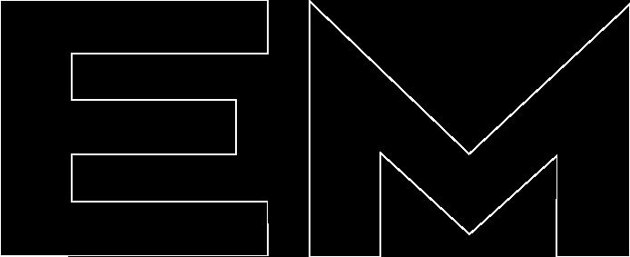 Lettre EM du logo B.E. Hemery
